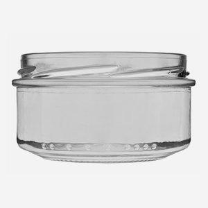 Konzerves üveg,189 ml,átlátszó,szájforma:TO82