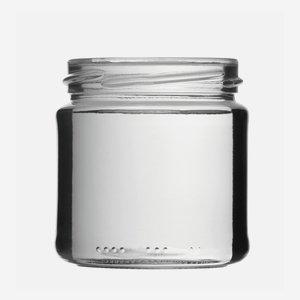 Konzerves üveg,210 ml,átlátszó,szájforma:TO66