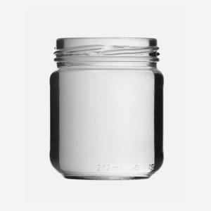 Konzerves üveg,212 ml,átlátszó,szájforma:TO63