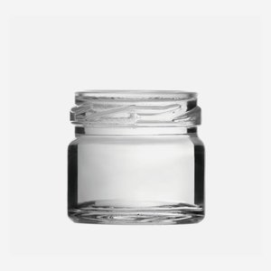 Konzerves üveg,30 ml,átlátszó,szájforma:TO43