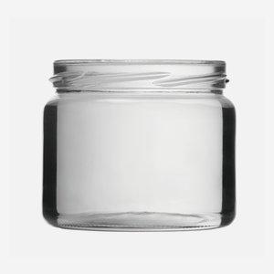 Konzerves üveg,330 ml,átlátszó,szájforma:TO82