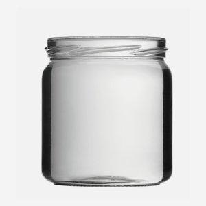 Konzerves üveg,405 ml,átlátszó,szájforma:TO82