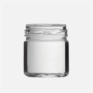 Konzerves üveg,41ml,átlátszó,szájforma:TO43