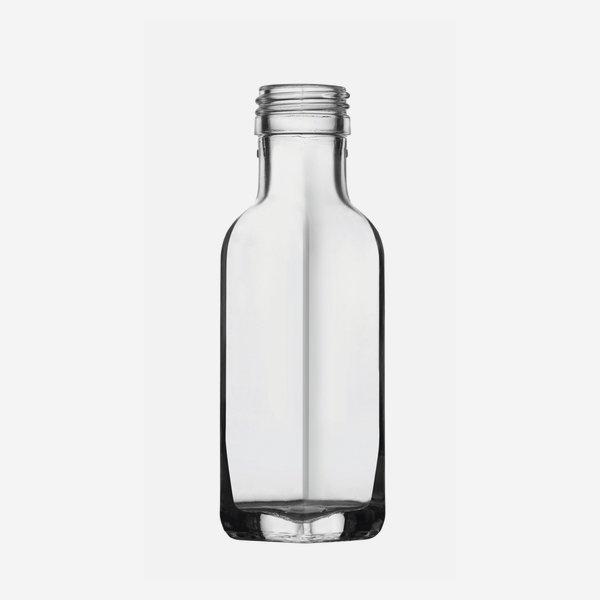Marasca üveg, 100 ml, fehér, szájforma: PP 31,5
