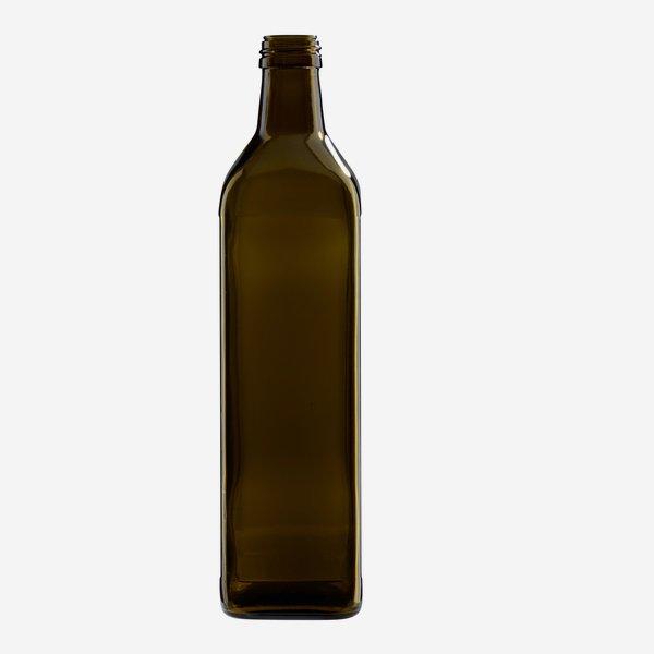 Marasca üveg, 750 ml,antikzöld, szájforma:PP 31,5