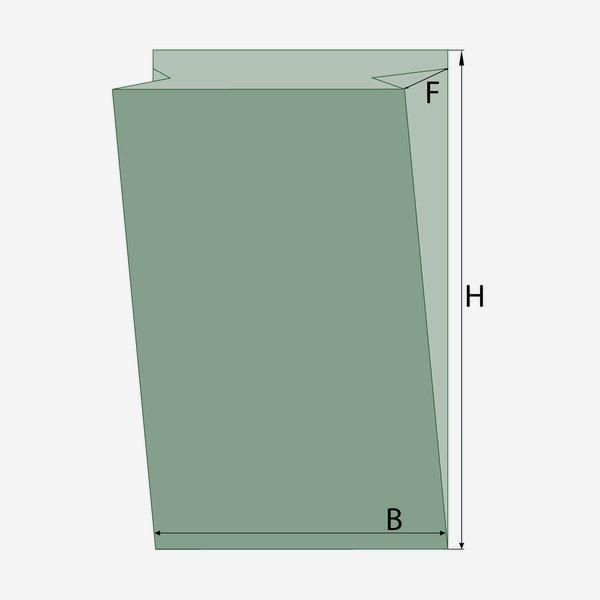 Éltalpas ablakos papírtasak 1,5 kg, 100% papír