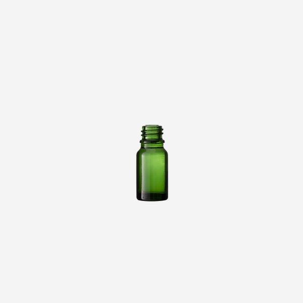 Cseppentös üveg,zöld,10 ml,szájforma GL-18