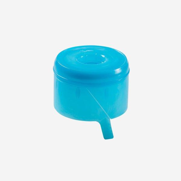 Víztartályzár, kék