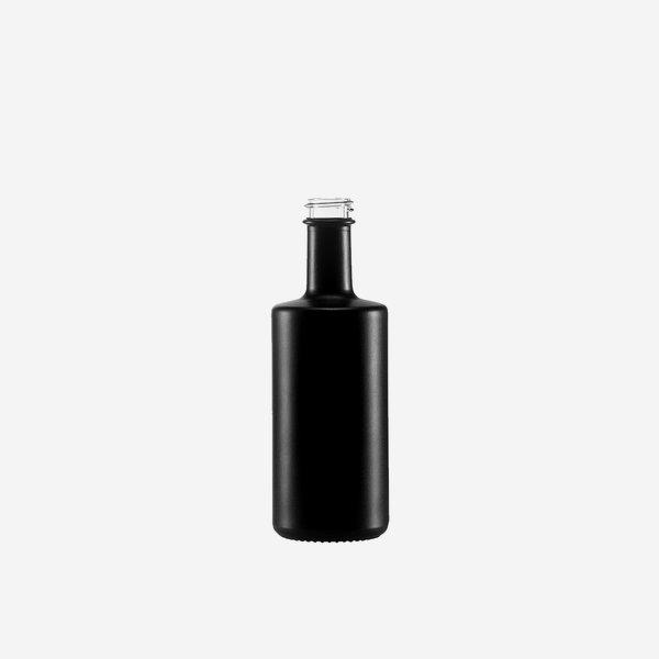 Viva üveg,100 ml, fekete-matt, szájkiképzés GPI 22