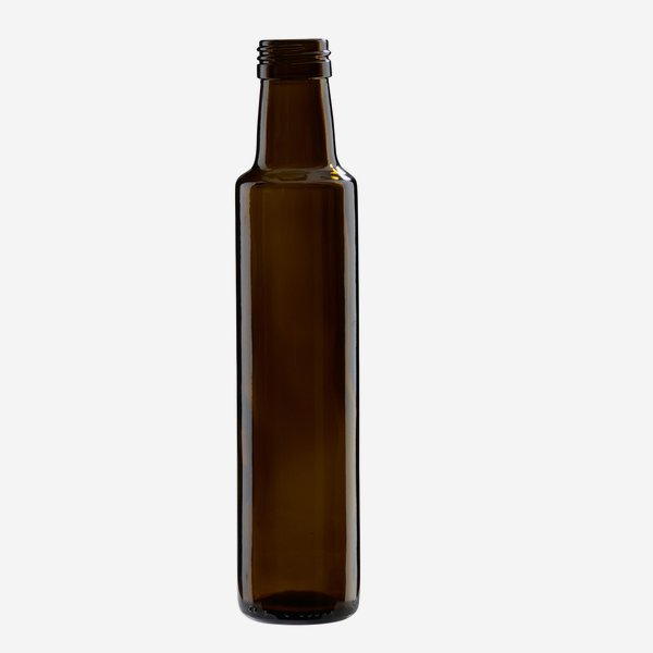Dorica üveg, 250 ml, antikzöld, szájméret: PP 31,5