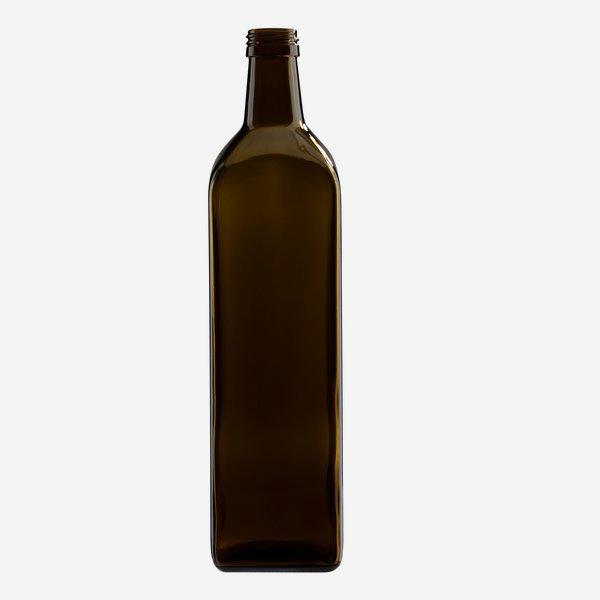 Marasca üveg, 1000 ml,antikzöld, szájforma:PP 31,5