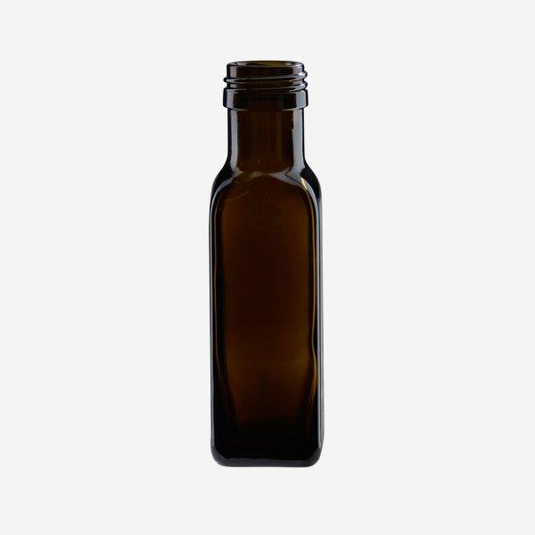 Marasca üveg,100 ml,antikzöld, szájforma:PP 31,5